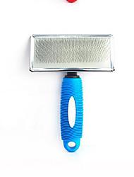 Gatto Cane Toelettatura Pennello Kit per toletta Elastici Set da bagno Portatile Rosso Blu