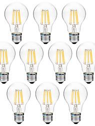 cheap -BRELONG® 10pcs 8W 600 lm E27 LED Filament Bulbs A60(A19) 8 leds COB Warm White White AC 200-240 V