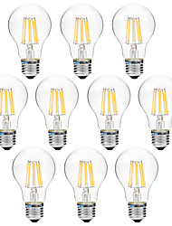 8W E27 LED Filament Bulbs A60(A19) 8 leds COB 600lm Warm White White 3000-3500   6000-6500