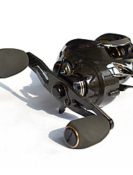 cheap -Baitcasting Reel 7:2:1 Gear Ratio+18 Ball Bearings Left-handed Sea Fishing - CT