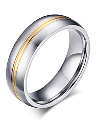 cheap -Band Rings Fashion Vintage Simple Style Titanium Steel Rose Gold Plated Ring Jewelry For Wedding Party