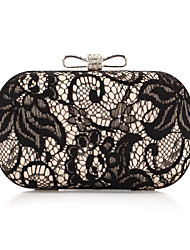 Women Bags All Seasons Silk Evening Bag Lace for Wedding Event/Party Casual Formal Gold Silver