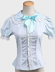 abordables -Lolita Classique/Traditionnelle Princesse Femme Adolescent Fille Chemisier/Chemise Cosplay Manches Courtes