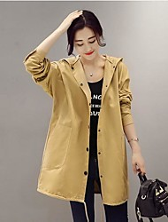 Women's Plus Size Casual/Daily Holiday Vintage Street chic Summer Fall Shirt,Solid Letter V Neck Long Sleeve Linen Thick