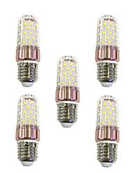 cheap -5pcs 9W 600lm E27 LED Corn Lights T 60 LED Beads SMD 2835 Warm White / White 220-240V