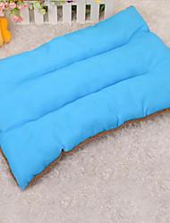 Dog Bed Pet Mats & Pads Solid Keep Warm Soft Elastic Orange Rose Green Blue