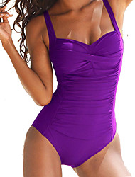 Women's Bandeau One-piece Solid Polyester Solid