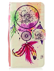 For iPhone X iPhone 8 Case Cover Card Holder Wallet with Stand Flip Pattern Magnetic Full Body Case Dream Catcher Hard PU Leather for