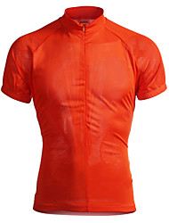 Jaggad Maillot de Cyclisme Homme Manches Courtes Vélo Maillot Hauts/Tops Séchage rapide Respirable Polyester Elasthanne Couleur Pleine Eté