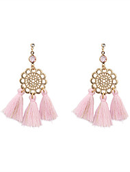 cheap -Women's Drop Earrings Jewelry Tassel Bohemian Personalized Euramerican Fashion Linen/Cotton Blend Alloy Irregular Jewelry ForWedding
