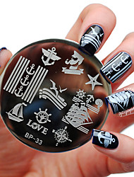 BORN PRETTY Sailors & Sea Sailing Theme Nail Art Stamp Template Image Plate BP33 Nail Stamping Plates Set