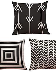 "Set of 3  Creative Geometric Arrow  Printed Throw Pillowcases Creative Decoration  (18""*18"")"