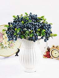 baratos -Flores artificiais 1 Ramo Estilo simples Plantas Flor de Mesa