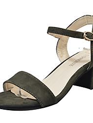 economico -Da donna Sandali Cashmere Estate Footing Più materiali Basso Nero Beige Verde 5 - 7 cm