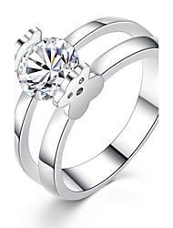 preiswerte -Damen Ring Strass Klassisch Kreis Elegant bezaubernd Zirkon Platin Kreisförmig Modeschmuck Party Jahrestag Alltag