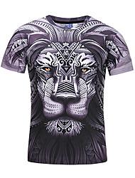 preiswerte -Herrn Stickerei - Punk & Gothic Strand T-shirt, Rundhalsausschnitt