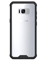cheap -For Samsung Galaxy S8 S8 Plus Case Cover High Penetration Acrylic Backplane TPU Frame Combo Armor Phone Case S7 S7 Edge