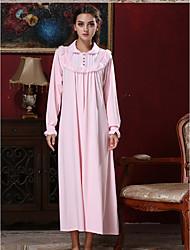 preiswerte -Damen Babydoll & slips Pyjamas,Solide Seide Kunstseide Rosa