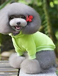 preiswerte -Hund Mäntel Pullover Hundekleidung Solide Gelb Rot Grün Blau Rosa Baumwolle Kostüm Für Haustiere Herrn Damen Lässig/Alltäglich Modisch