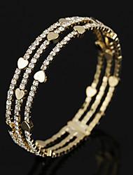 Per donna Braccialetti Bracciali tennis Cristallo Zirconi Di tendenza Vintage Gioielli di Lusso Zirconi Placcato in oro Circolare Gioielli