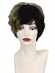 Syntetisk hår Parykker Bølget Afro-amerikansk paryk Ombre-hår Frisure i lag Pixie frisure Med bangs / pandehår Lågløs Naturlig paryk Kort