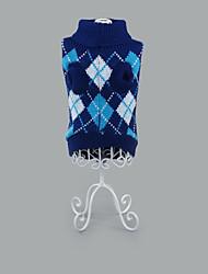 preiswerte -Hund Pullover Hundekleidung Lässig/Alltäglich Geometrisch Fuchsia Grün Blau Rosa Hellblau Kostüm Für Haustiere