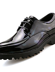 Men's Shoes PU Spring Fall Gladiator Oxfords Lace-up For Casual Office & Career Black Red Green