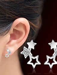 cheap -Women's Star Crystal Crystal Stud Earrings - Adorable Silver Star Earrings For Christmas Gifts Wedding Party Special Occasion Anniversary