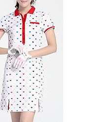 preiswerte -Damen Kurzarm Golf Kleider Golfspiel