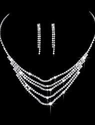 Недорогие -Жен. Серьги-слезки Ожерелья-бархатки Свадебные комплекты ювелирных изделий Цирконий Мода Elegant Свадьба Для вечеринок Обручение Цирконий