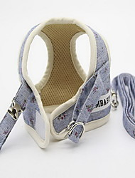 Harness Leash Adjustable Flower/Floral Fabric