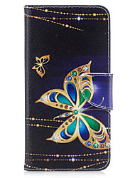 cheap -Case For Apple iPhone X iPhone 8 Card Holder Wallet with Stand Flip Pattern Full Body Cases Butterfly Hard PU Leather for iPhone X iPhone