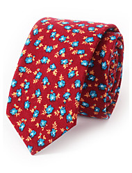 Men's Fashion Floral Printing Narrow Version Of Casual Tie