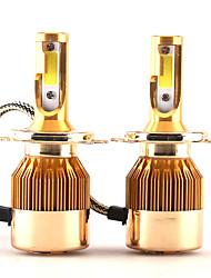 2017 nuovi 2 pezzi 30w 3000lm h4 9003 hb2 proiettore headlight kit lonowo cob chip super luminoso 6000k faro bianco