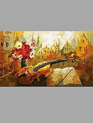 Dipinta a mano Natura morta Orizzontale,Modern Classico Un Pannello Tela Hang-Dipinto ad olio For Decorazioni per la casa