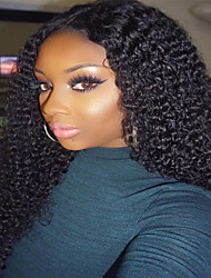 Kinky Curly Full Lace Wig 100% Human Virgin Hair Natural Color Wig with Baby Hair for Black Women
