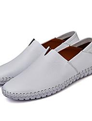 preiswerte -Herrn Schuhe Leder Frühling Sommer Herbst Matt Lässig/Alltäglich Komfort Sneakers Walking Kombination für Normal Weiß Schwarz Gelb Braun