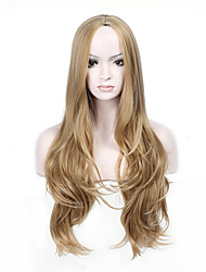 Ladies Women Party Curly Hair Full Wig Daily Wearing Heat Resistant Cosplay Blonde Color Synthetic Wig