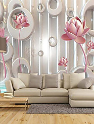 cheap -Special Design Flower/Floral 3D Print Home Decoration Modern/Contemporary Wall Covering, Canvas Material Adhesive required Mural, Room