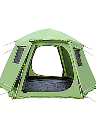 cheap -5-8 persons Tent Double Camping Tent One Room Automatic Tent Moistureproof/Moisture Permeability Waterproof for Camping Outdoor Indoor