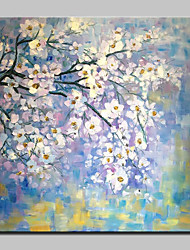 cheap -Hand Painted Tree Flowers Oil Painting On Canvas Modern Art Wall Pictures For Home Decoration Ready To Hang
