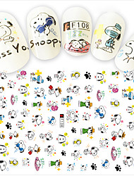 cheap -1pcs Fashion Nail Art DIY Beauty Cartoon 3D Stickers Lovely Cartoon Decoration Cute Snoopy Funny Expression Design F108