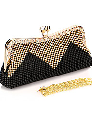 cheap -Women's Bags Polyester Evening Bag Rhinestone / Sequin Light Green / Coffee / Red