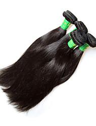 Недорогие -Remy Пряди натуральных волос Реми Прямой Индийские волосы 400 g 1 год