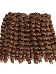 wand curl 8inch Havana Crochet Curly Bouncy Curl Deep Twist Pre-loop Crochet Braids Hair Extensions Hair Braids synthetic braiding hair weave