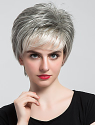 cheap -Human Hair Capless Wigs Human Hair Natural Wave Bob Haircut With Bangs Side Part Short Machine Made Wig Women's