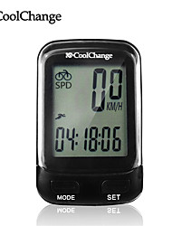 CoolChange Bike Computer Multifunction Waterproof Bicycle Computer Speedometer Cycling Odometer with LCD Blue Backlight
