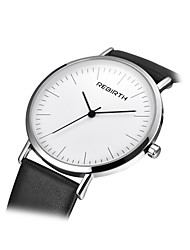REBIRTH Women's Fashion Watch Chinese Quartz PU Band Black
