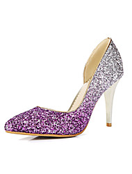 cheap -Women's Shoes Glitter Spring Summer Heels Stiletto Heel Pointed Toe Sequin for Party & Evening Gold Silver Purple Burgundy