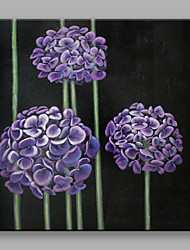 cheap -Hand-Painted Floral/Botanical Square, Flower Modern/Contemporary Canvas Oil Painting Home Decoration One Panel
